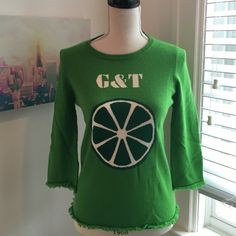 Kate Spade Apple Green Intarsia Sweater Kate Spade green sweater with large lime detail on the front + soft fringed sleeves and hem. Feel free to make an offer. 100% Cashmere! kate spade Sweaters Crew & Scoop Necks