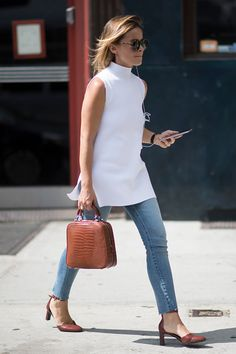 Miroslava Duma seen in the streets of New York during the New York Fashion Week on September 12 2016 in New York City