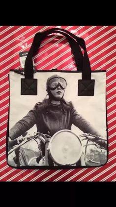 Womens Vintage Print Bag in Handbags & Purses | eBay #motorcyclegirl #motorcyclebag #womensbags #vintagebags #vintagephotographs #caferacer #hipsterstyle #hipsterbag #giftsforher #totes #cutetotes #cutebags #bikerbabes #biker #bikergirl