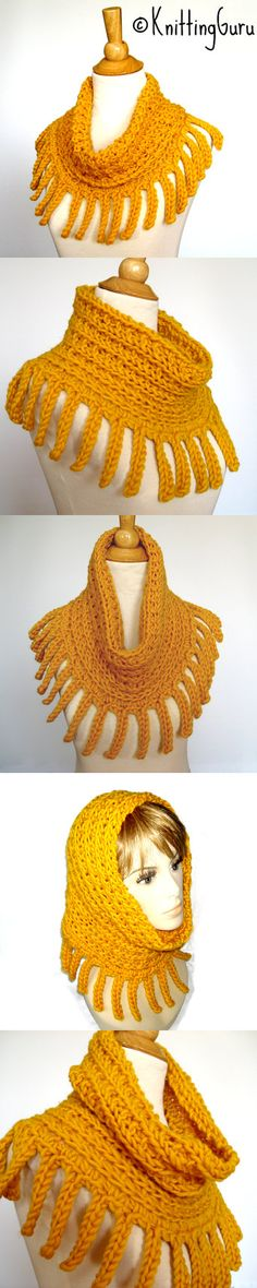 Chunky Yellow Cowl / Infinity Scarf / Hood / Cape is in this Etsy treasury: http://www.etsy.com/treasury/MTYzNDY5NDN8MjcyMzA4Mzk3MQ/honey-mustard-on-a-winters-day
