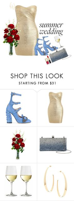 """""""At the Summer wedding. ♡"""" by rashana-forte ❤ liked on Polyvore featuring Gucci, Nearly Natural, Jimmy Choo, Lana and Dolce&Gabbana"""