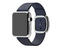 AApple Watch Band,Kartice(TM)Modern Buckle Genuine Leather Watch Band Strap Bracelet Wrist Band With Adapter Clasp Replacement for iWahtch Apple Watch&Sport&Edition--38mm navy strap Silver Buckle Kartice http://www.amazon.com/dp/B016EP2VZG/ref=cm_sw_r_pi_dp_LkwFwb1R75F8F