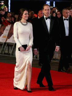 Kate Middleton, in Roland Mouret, and Prince William at the Mandela: Long Walk to Freedom premiere. December 2013.