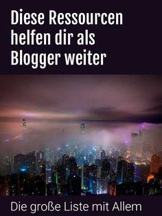 Wo finde ich was als Blogger? Hier sind die besten Links. Die wichtigsten Quellen und Services auf einer Seite.