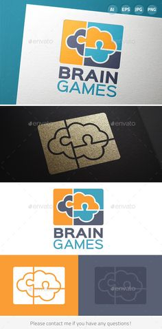 Brain Games Puzzle Logo — Vector EPS #modern #game • Available here → https://graphicriver.net/item/brain-games-puzzle-logo/9687085?ref=pxcr