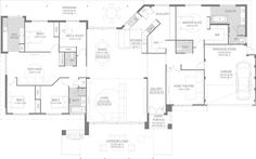 The Magnolia Floorplan by GO Homes. Only like the how kitchen opens up into living area one side and scullery on other. Dream House Plans, House Floor Plans, My Dream Home, Internal Door Handles, Shower Rose, Brick Facade, House Blueprints, Outdoor Kitchen Design, Outdoor Living Areas
