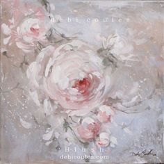 Romantic Shabby Chic Blush Original Painting by Debi Coules. Available at www.debicoules.com