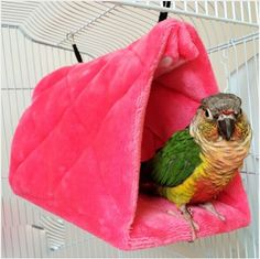 Double Layer Bird Hammock Hanging Cave Cage Snug Hut Tent Bed Bird Parrot Conure Toy Parrot Hammock Numerous In Variety Bird Cages & Nests