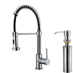 @Overstock.com - VIGO Chrome Pull-Out Spray Kitchen Faucet with Soap Dispenser - Faucet type: Kitchen Number of handles: Single-handleFaucet finish: Chrome  http://www.overstock.com/Home-Garden/VIGO-Chrome-Pull-Out-Spray-Kitchen-Faucet-with-Soap-Dispenser/6006506/product.html?CID=214117 $182.35