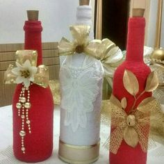 #decoratedwinebottles