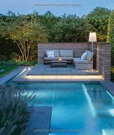 The layout of this modern house allows for seamless indoor-outdoor living experiences as each pavilion is positioned around a large deck and swimming pool. modern garden Of the Best Ideas for Swimming Pool Decorating - Best Home Ideas and Inspiration Backyard Pool Designs, Swimming Pools Backyard, Swimming Pool Designs, Backyard Landscaping, Landscaping Ideas, Pool Pool, Backyard House, Infinity Pool Backyard, Pool For Small Backyard