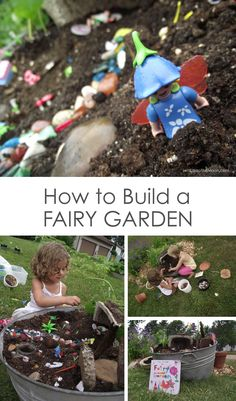 "How to Build a Fairy Garden for your kids. Brought to you by BlogHer and Disney's ""The Pirate Fairy"", an All-New Tinker Bell Movie on Blu-Ray and Digital HD April 1."