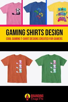 Gaming Shirts | A collection of gaming shirt designs from the brands Just Gaby Gaming, Jay's Xtreme Gaming, and Kenal Louis. Creative, Cute, Artistic, Cool Graphic Tees for Gamers. Gamer Tee Shirts. Get The Shirt You Love today! #gamer #tees #tshirt #shirts Boys Shirts, Tee Shirts, Cool Graphic Tees, Graphic Design, Gamer Shirt, Cute Games, Ring Doorbell, Order T Shirts, Article Design