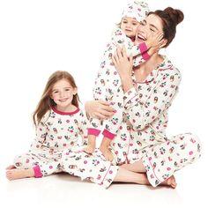 Bedhead Multi-Print Classic Pajama Set (€72) ❤ liked on Polyvore featuring intimates, sleepwear, pajamas, people, long sleeve sleepwear, long sleeve pajamas, button front pajamas and long sleeve pyjamas