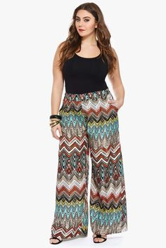 be3c67fbe4a Plus Size Moon Dancer Palazzo Pants Summer Pants Outfits
