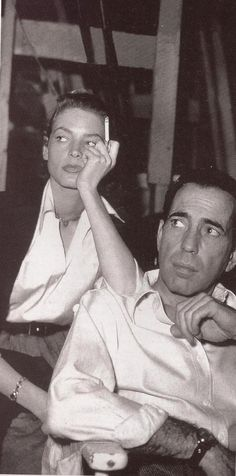 Humphrey Bogart and Lauren Bacall......Uploaded By www.1stand2ndtimearound.etsy.com