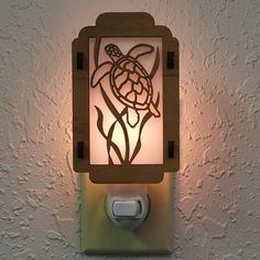 Sea Turtle Night Light with Seaweed sides by robwhitmore on Etsy, $11.00