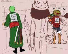 In case Zoro gets lost..brilliant idea ! #onepiece