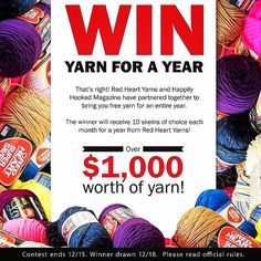 Amazing giveaway! Win free yarn for a year!