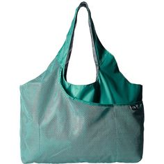 The North Face On The Run Bag (Agate Green/Zinc Grey) Tote Handbags (47 AUD) ❤ liked on Polyvore featuring bags, handbags, tote bags, handbags totes, gray tote, grey handbags, green tote and gray tote bag