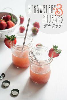 Edibles: Strawberry Rhubarb Gin Fizz