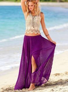 crop top + maxi skirt by Janny Dangerous