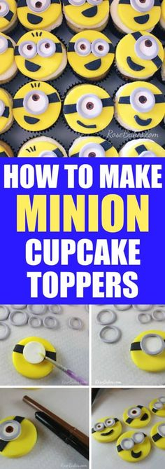 How to Make Minion Cupcake Toppers - Rose Bakes