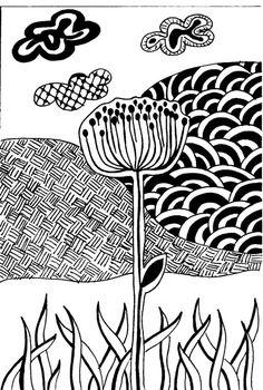 #doodle, # zendoodle- zentangle