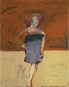 """""""~Nathan Oliveira~ Standing Woman with a Large Hat (c.1963) """""""