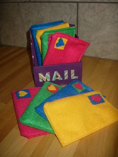 diy mailbox with letters