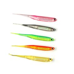 Outdoor Fishing Shad 2.5g/95mm Soft Lure for Fishing Worm Swimbaits Jig Head Soft Lure Fly Fishing Bait Fishing Lures 6 Pcs/Set #Affiliate