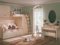 kids bedroom victorian styled shared kids bedroom in soft green with wooden bunk beds furniture lovely bedroom design ideas for your lovely kids Modern Kids Bedroom, Kids Bedroom Designs, Kids Room Design, Girls Bedroom, Bedroom Decor, Bedroom Ideas, Bedroom Inspiration, Bedroom Setup, Bedroom Table