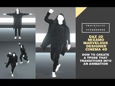 Daz, Mixamo, Marvelous Designer, Cinema 4D - Create A T-Pose That Transi...