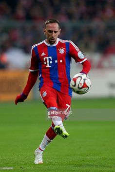 Franck Ribery of Muenchen runs with the ball during the round of 16 DFB Cup match between FC Bayern Muenchen and Eintracht Braunschweig at Allianz Arena on March 4, 2015 in Munich, Germany.