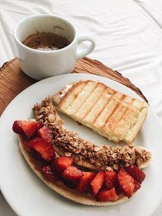 Healthy Breakfast Recipes, Easy Healthy Recipes, Healthy Drinks, Gourmet Recipes, Healthy Snacks, Breakfast Ideas, Healthiest Breakfast, Healthy Breakfasts, Breakfast Healthy