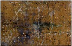 "Caroline Wright - Studio Floor, Chicon Street no. 1 (mixed media on bamboor 60x96"" 2012)"