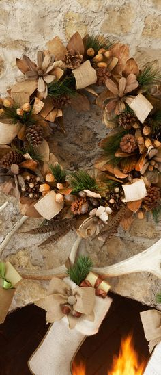 Natural Wreath |This is what we could do with Ty's pheasant feathers @ Ruth Seedall