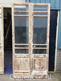 nr. set453 set oude glas deuren (meerdere beschikbaar)