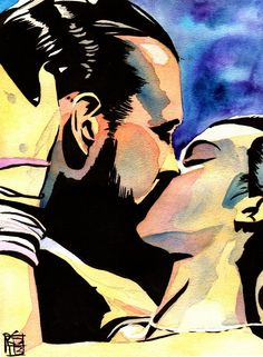 AJPunk/PunkLee my OTP ❤ Painting by Rob Schamberger