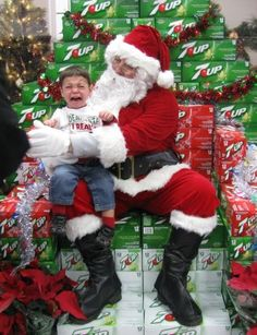 Way to go low budget with the throne there Santa!