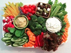 A Fancy Crudite Platter with Two Sauces - Foodista.com