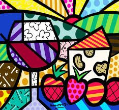 Wine and Cheese pop-art by Romero Britto Psychedelic Art, Mondrian, Graffiti Painting, Wine Art, Colorful Paintings, Kandinsky, Copics, Painting For Kids, Matisse