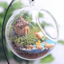 1PC New Cute resin crafts house fairy garden miniatures gnome Micro landscape decor bonsai for home decor Random Color(China (Mainland))
