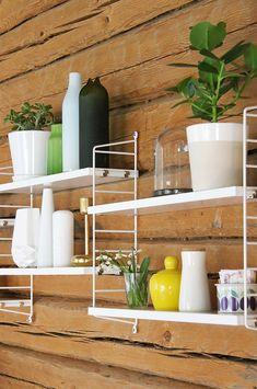 String shelves mounted