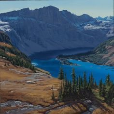 Hidden Lake by Dennis Farris Oil ~ 16 x 16