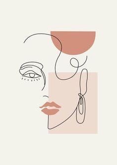 Arte Inspo, Abstract Face Art, Outline Art, Face Outline, Art And Illustration, Portrait Illustration, Illustrations, Minimalist Art, Aesthetic Art