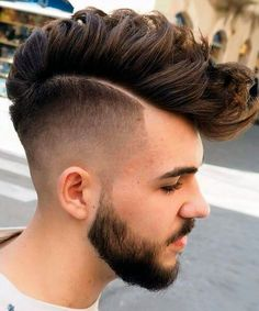 Disconnected fade haircut for men