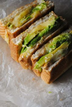 This sandwich was pretty good, except I would put less then one avocado on each sandwich. If you're not a big fan of avocado, like me, you just need to season it well and put less-then-called-for avocado.