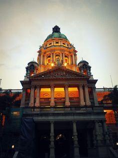 Durban City Hall - Taken on Nokia E5; at sunset.