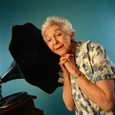 Woman with Gramophone Gramophone Record, Editorial News, Stock Photos, Woman, Women